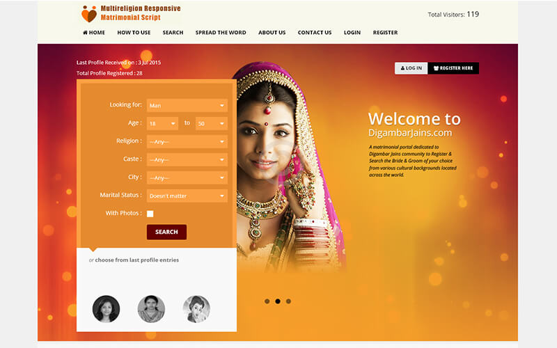 Matrimonial / wedding website php script free download.